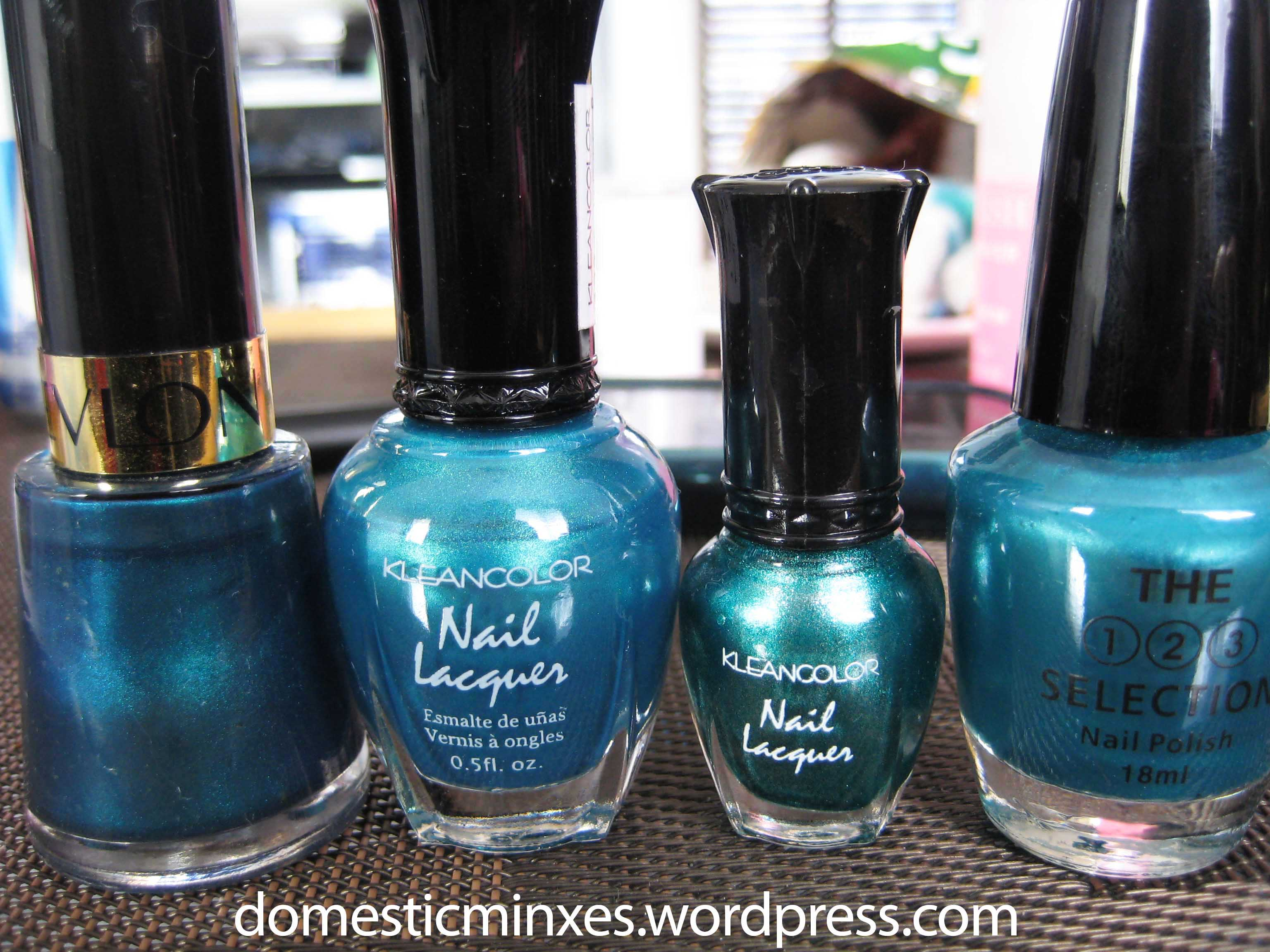 Teal Polish Comparisons | DomesticMinxes